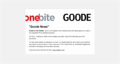 Preview of goode.co.uk