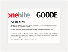 Tablet Preview of goode.co.uk